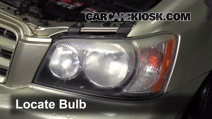 2003 Toyota Highlander 2.4L 4 Cyl. Luces Luz de giro delantera (reemplazar foco)