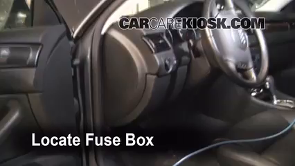 interior fuse box location 1998 2004 audi a6 2004 audi a6 3 0l v6 rh carcarekiosk com audi a4 fuse box location 2002 audi fuse box location a4