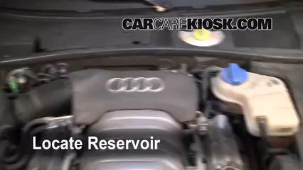 add windshield washer fluid volkswagen passat 1998 2005 2003 rh carcarekiosk com 1998 Audi A4 Custom 1998 Audi A4 Custom
