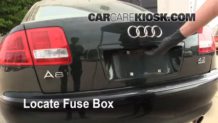 Interior Fuse Box Location: 2004-2010 Audi A8 Quattro - 2004 Audi A8