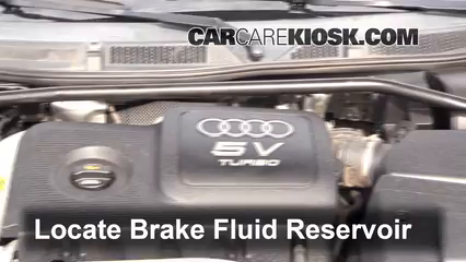 2004 Audi TT Quattro 1.8L 4 Cyl. Turbo Convertible Brake Fluid Add Fluid