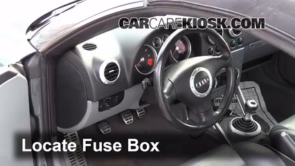 Interior Fuse Box Location: 2000-2006 Audi TT Quattro - 2004 Audi TT ...