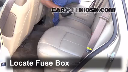 interior fuse box location: 2004-2007 buick rainier