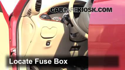 interior fuse box location: 2004-2005 chevrolet classic