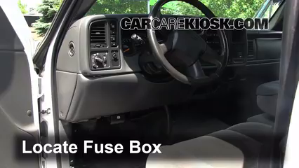 interior fuse box location: 1999-2007 chevrolet silverado 1500