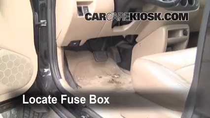 interior fuse box location 2001 2004 ford escape 2004. Black Bedroom Furniture Sets. Home Design Ideas