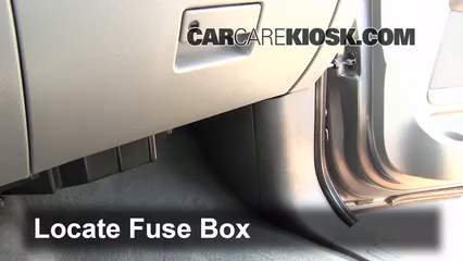 Interior Fuse Box Location: 2003-2006 Ford Expedition - 2004