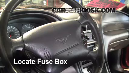 interior fuse box location 1994 2004 ford mustang 2004 ford Fuse Box for 1998 Ford Windstar locate interior fuse box and remove cover