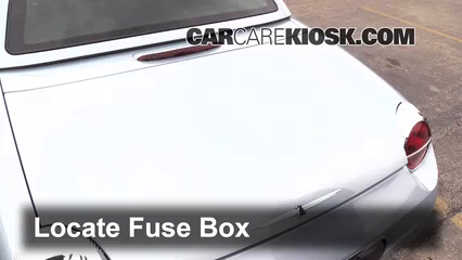 interior fuse box location: 2002-2005 ford thunderbird