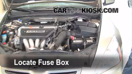 2004 Honda Accord EX 2.4L 4 Cyl. Sedan %284 Door%29%2FFuse Engine Part 1 blown fuse check 2003 2007 honda accord 2004 honda accord ex 2 4 2004 accord fuse box diagram at eliteediting.co