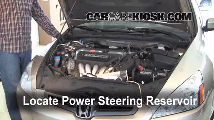 Follow these steps to add power steering fluid to a honda accord 2004 honda accord ex 24l 4 cyl sedan 4 door fluid leaks sciox Choice Image