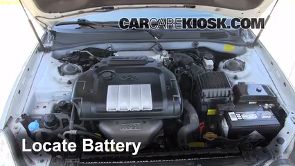 Battery Locate Part on Hyundai Sonata Air Filter Replacement
