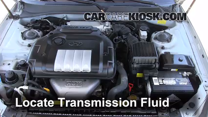Transmission Fluid Level Check Hyundai Sonata 2002 2005