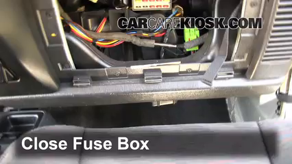 interior fuse box location: 1997-2006 jeep wrangler - 2004 jeep wrangler  rubicon 4.0l 6 cyl.  carcarekiosk