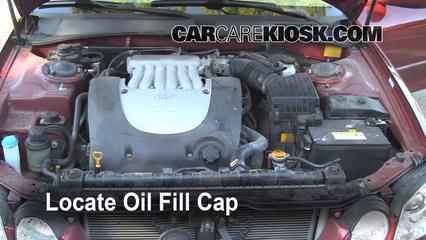 How to Add Oil Kia Optima (2001-2006) - 2004 Kia Optima EX ...