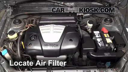 [DIAGRAM_1CA]  2001-2005 Kia Rio Engine Air Filter Check - 2004 Kia Rio 1.6L 4 Cyl. | 2004 Kia Rio Fuel Filter |  | CarCareKiosk