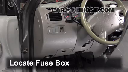 Interior Fuse Box Location: 2001-2005 Kia Rio - 2004 Kia Rio ... on kia rio bumper cover, kia sephia fuse box, kia rio condenser, kia rio blower motor, kia rio alternator fuse, kia rio hood, kia rio catalytic converter, kia rio relay, kia rio trunk release, kia rio ignition switch, kia rio strut, kia rio fog lamp, kia rio a/c compressor, kia rio trunk latch, kia rio water pump, kia rio ground effects, kia rio cabin filter, kia rio armrest, kia rio evap canister, kia rio trunk lid,