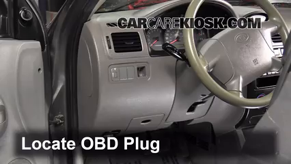 OBD Plug interior fuse box location 2001 2005 kia rio 2004 kia rio 1 6l 4 cyl