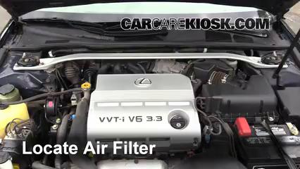 Air Filter How To: 2002 2006 Lexus ES330