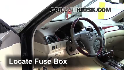 interior fuse box location: 2002-2006 lexus es330