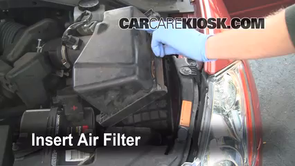 air filter how to 2003 2007 nissan murano 2004 nissan. Black Bedroom Furniture Sets. Home Design Ideas