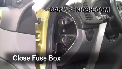 interior fuse box location: 2003-2007 saab 9-3 - 2004 saab 9-3 arc 2 0l 4  cyl  turbo convertible (2 door)