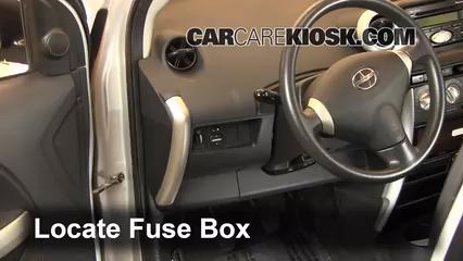 Interior Fuse Box Location: 2004-2006 Scion xA - 2004 Scion xA 1.5L ...