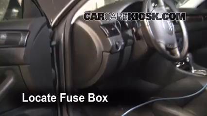 Interior Fuse Box Location: 1998-2004 Audi A6 - 2004 Audi A6 3.0L V6 | Audi A6 98 Fuse Box |  | CarCareKiosk