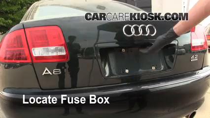Replace a Fuse: 1997-2003 Audi A8 Quattro - 2001 Audi A8 Quattro L 4.2L V8 | 1998 Audi A8 Fuse Box Location |  | CarCareKiosk