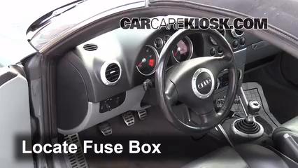 Interior Fuse Box Location: 2000-2006 Audi TT Quattro - 2004 Audi TT Quattro  1.8L 4 Cyl. Turbo Convertible | Audi Tt Quattro Fuse Box |  | CarCareKiosk