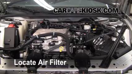 2004 Buick Century Custom 3.1L V6 Filtro de aire (motor)