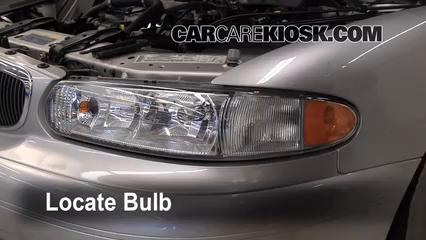 2004 Buick Century Custom 3.1L V6 Luces Luz de carretera (reemplazar foco)