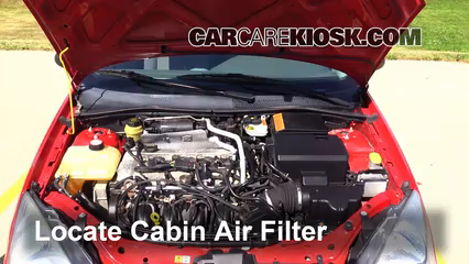 2004 Ford Focus ZTS 2.3L 4 Cyl. Air Filter (Cabin) Check