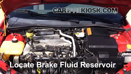 2004 Ford Focus ZTS 2.3L 4 Cyl. Brake Fluid Check Fluid Level