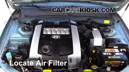 2004 Hyundai XG350 L 3.5L V6 Filtro de aire (motor)