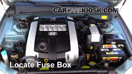 replace a fuse: 2001-2005 hyundai xg350 - 2004 hyundai xg350 l 3.5l v6  carcarekiosk