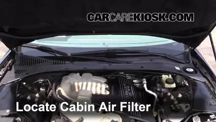 2004 Lincoln LS 3.0L V6 Filtro de aire (interior) Cambio