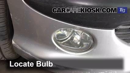 2004 Peugeot 206 XS 2.0L 4 Cyl. Turbo Diesel Lights Fog Light (replace bulb)