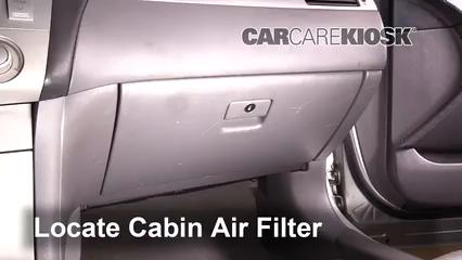 2004 Toyota Solara SE 2.4L 4 Cyl. Coupe Filtro de aire (interior)