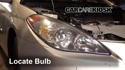 2004 Toyota Solara SE 2.4L 4 Cyl. Coupe Luces Faro delantero (reemplazar foco)