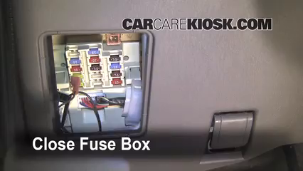 interior fuse box location: 1995-2004 toyota tacoma - 2003 toyota tacoma  pre runner 2.7l 4 cyl. extended cab pickup (2 door)  carcarekiosk