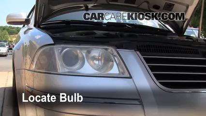 2004 Volkswagen Passat GLX 2.8L V6 Wagon Lights Headlight (replace bulb)