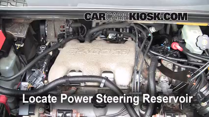 2005 Buick Rendezvous CX 3.4L V6%2FPower Steering Part 1 follow these steps to add power steering fluid to a buick  at crackthecode.co