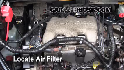 2005 Buick Rendezvous CX 3.4L V6 Air Filter (Engine) Replace