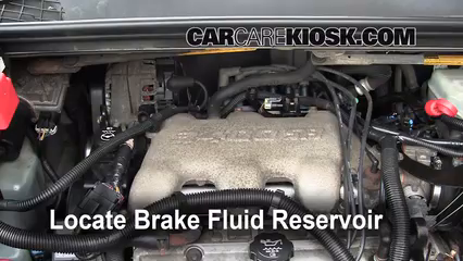 2005 Buick Rendezvous CX 3.4L V6 Brake Fluid Add Fluid