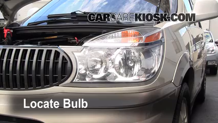 2005 Buick Rendezvous CX 3.4L V6 Lights Highbeam (replace bulb)