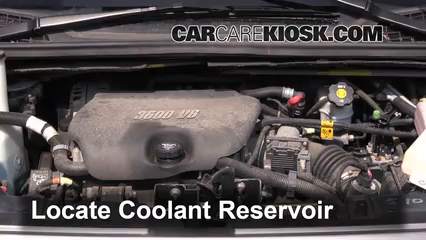 How To Put Antifreeze In Car >> Coolant Flush How-to: Buick Terraza (2005-2007) - 2005