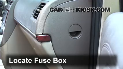 interior fuse box location: 2005-2007 buick terraza