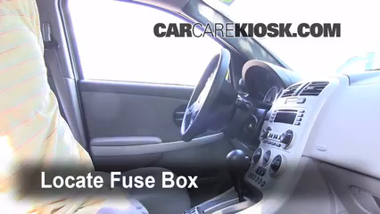 Interior Fuse Box Location 2002 2007 Saturn Vue 2004