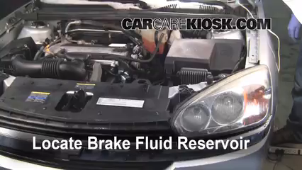 2005 Chevrolet Malibu 2.2L 4 Cyl. Brake Fluid Check Fluid Level